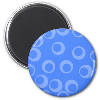 Retro pattern Circle design in blue Magnets