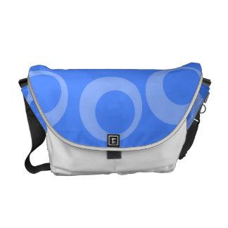 Retro pattern. Circle design in blue. Commuter Bag