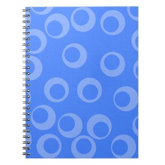 Retro pattern Circle design in blue Spiral Note Book