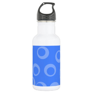 Retro pattern. Circle design in blue. 532 Ml Water Bottle