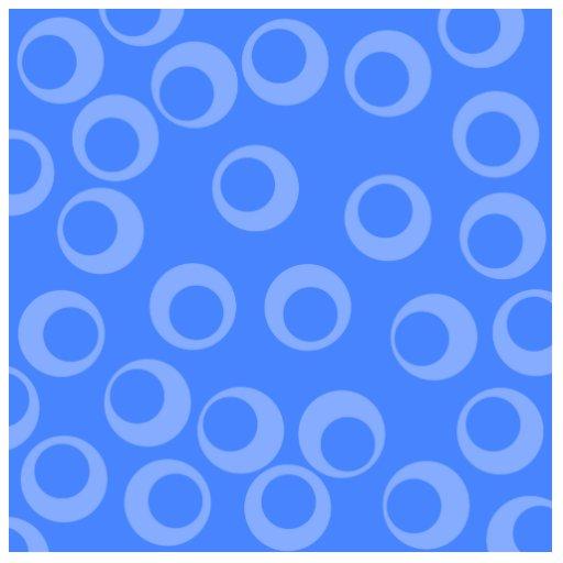 Retro pattern. Circle design in blue. Photo Sculpture
