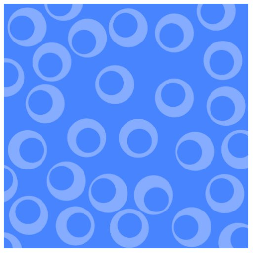 Retro pattern. Circle design in blue. Photo Cut Out