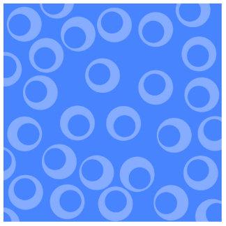 Retro pattern. Circle design in blue. Photo Sculptures