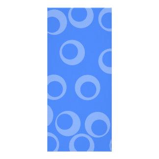 Retro pattern. Circle design in blue. Custom Rack Cards