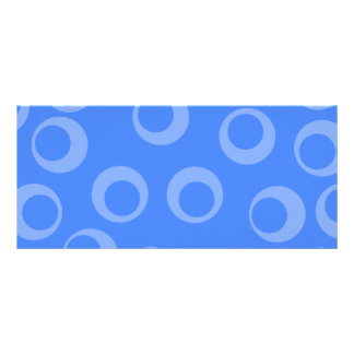 Retro pattern Circle design in blue Personalized Rack Card