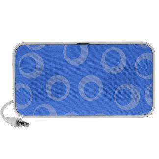 Retro pattern Circle design in blue Mini Speaker