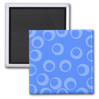 Retro pattern. Circle design in blue. Square Magnet
