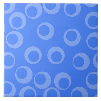 Retro pattern. Circle design in blue. Ceramic Tile