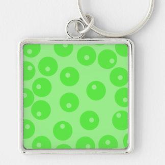 Retro pattern. Circle design in green. Key Chain