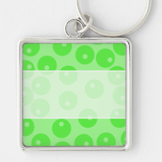 Retro pattern. Circle design in green. Key Chains