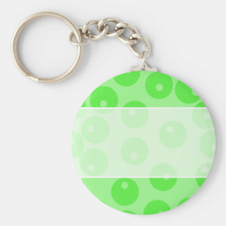 Retro pattern. Circle design in green. Key Chain