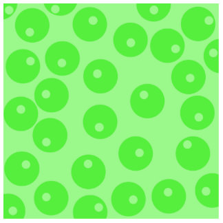 Retro pattern Circle design in green Photo Cut Outs