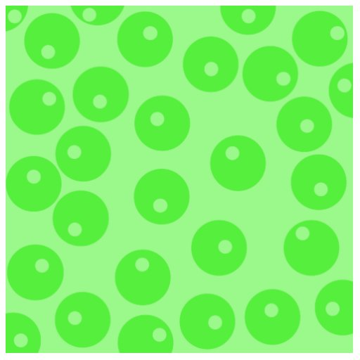 Retro pattern. Circle design in green. Photo Cut Outs