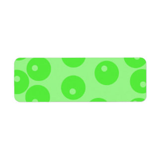 Retro pattern. Circle design in green. Return Address Label
