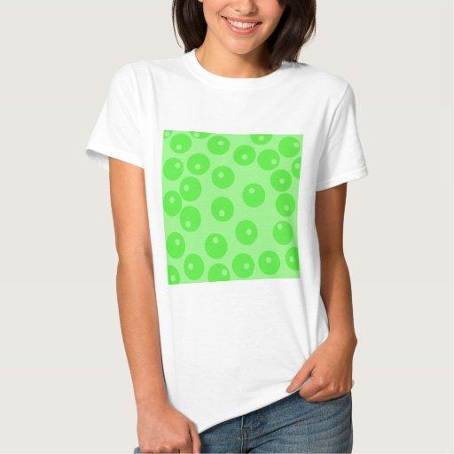 Retro pattern. Circle design in green. Tshirt