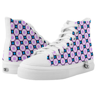 retro pattern Custom Zipz Slip On Shoes