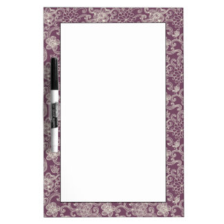 Retro pattern dry erase board
