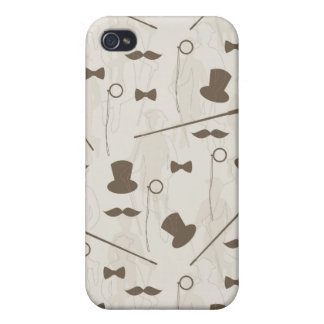 Retro pattern for man 2 iPhone 4 case