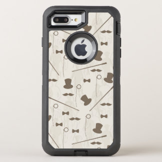Retro pattern for man 2 OtterBox defender iPhone 8 plus/7 plus case