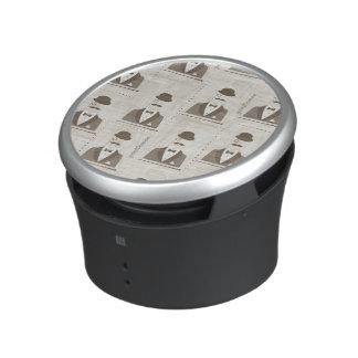 Retro pattern for man bluetooth speaker