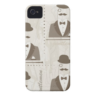 Retro pattern for man Case-Mate iPhone 4 cases