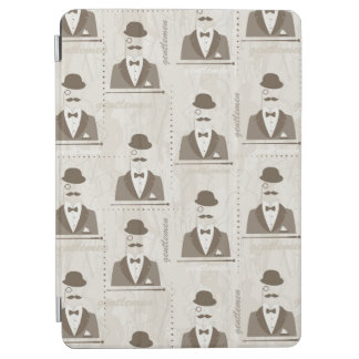 Retro pattern for man iPad air cover