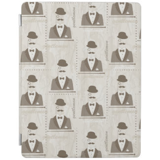 Retro pattern for man iPad cover