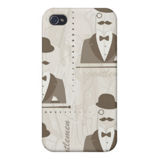 Retro pattern for man iPhone 4/4S case
