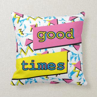 Retro Pattern Good Times Pillow