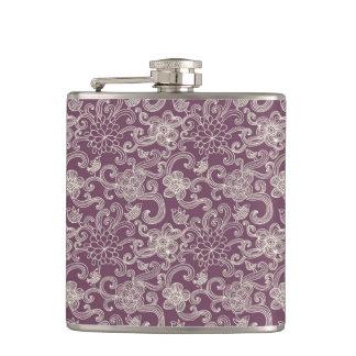 Retro pattern hip flask