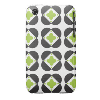 Retro Pattern in lime iPhone 3G/3GS iPhone 3 Case-Mate Case