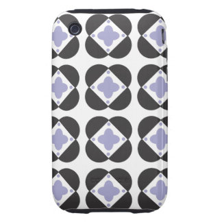Retro Pattern in periwinkle iPhone 3G/3GS iPhone 3 Tough Cover