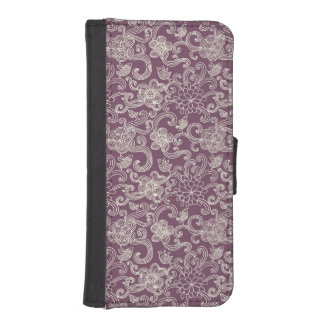 Retro pattern iPhone SE/5/5s wallet case