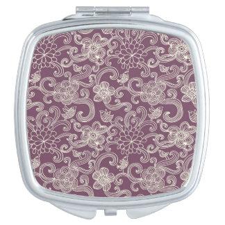 Retro pattern makeup mirrors