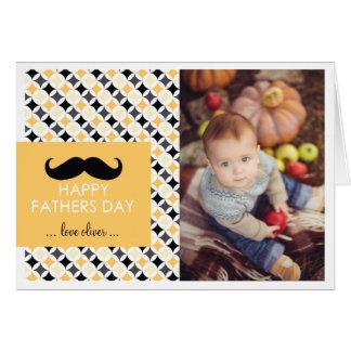 Retro Pattern | Mustache Father's Day Card