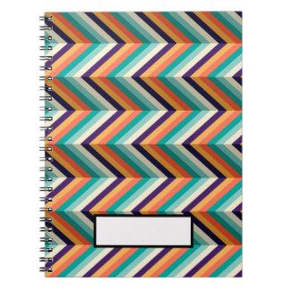 Retro Pattern notebook