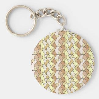retro pattern Owen beige Key Chains
