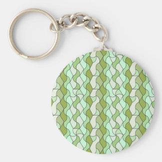 retro pattern Owen green Key Chains