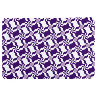 RETRO PATTERN PILLOW, Purple, White & Lavender Floor Mat