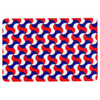 RETRO PATTERN PILLOW, Red White & Blue Floor Mat