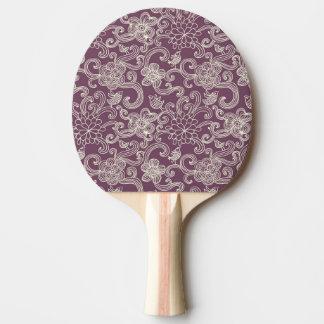 Retro pattern ping pong paddle