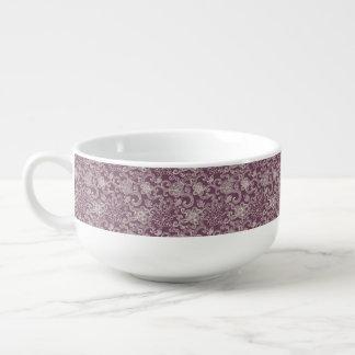 Retro pattern soup mug