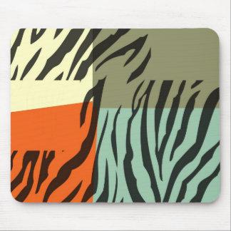 Retro Pattern Zebra Pop Art Mouse Pad
