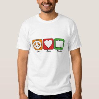 Retro Peace, Love, Books (Dark) Men's Tee Shirt