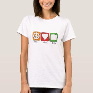 Retro Peace, Love, Books (Dark) Women's T-Shirt