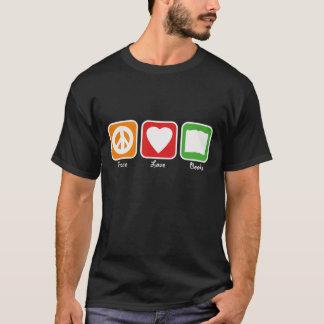 Retro Peace, Love, Books Men's (Dark) T-Shirt