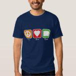 Retro Peace, Love, Books T Shirts
