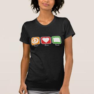 Retro Peace, Love, Books Women's (Dark) Shirts