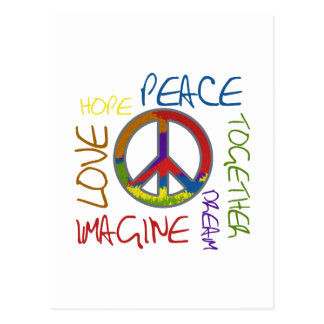 Retro Peace Postcards