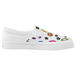 Retro Peace Printed Shoes
